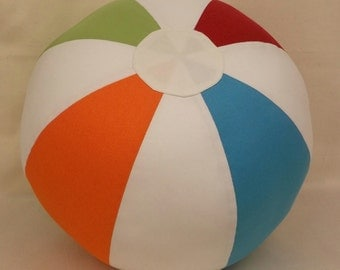 CUSTOM MADE Vintage-Look Fabric Beach Ball 12-inch