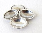 Antiqued Silver Ox Oval Rhinestone Setting 1 Ring Glue In Bezel Vintage Style 18x13mm set0329 (4)