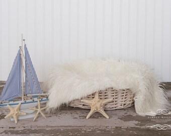 Newborn baby digital photography prop backdrop nautical theme sailboat