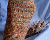 SCYLLA - sock knitting pattern - toe-up and perfect for variegated yarns