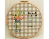 Small Things, Great Love Hand Embroidery Pattern Hoop Art pdf download