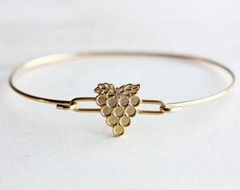 Gold Grape Bracelet