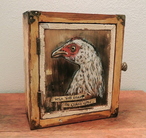 Chicken Portrait Keepsake Box