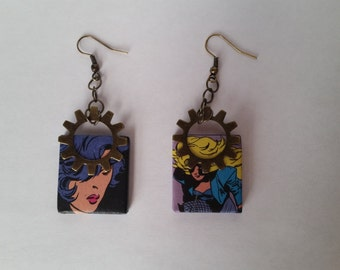 Black Canary Earrings