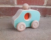Wooden Toy Car - Winnie Wagon - A waldorf inspired wood toy truck with peg person