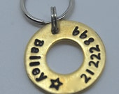 Custom Pet id tag / Brass Lifesaver for your Pooch 3/4