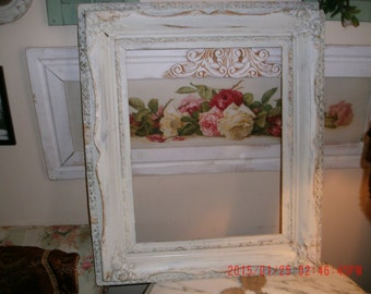 Vintage Antique Wooden Square Frame - Shabby Cottage - French Cottage-Farmhouse-French Chic Style