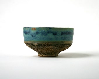 Pierced Tea Light - Blue Green Glazed Clay - Stoneware Home Decor