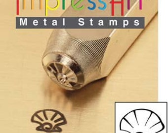 Metal Design Stamp By Impressart 6mm Sea Shell