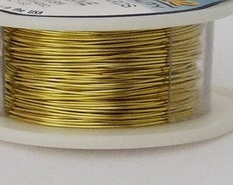 26GA Beadsmith Champagne Gold Color Non-Tarnish  Wire 15 Yards