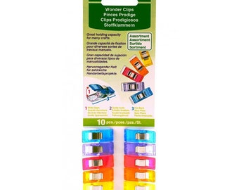 Wonder Clips Assorted Colors 10 count Clover Sewing Notion