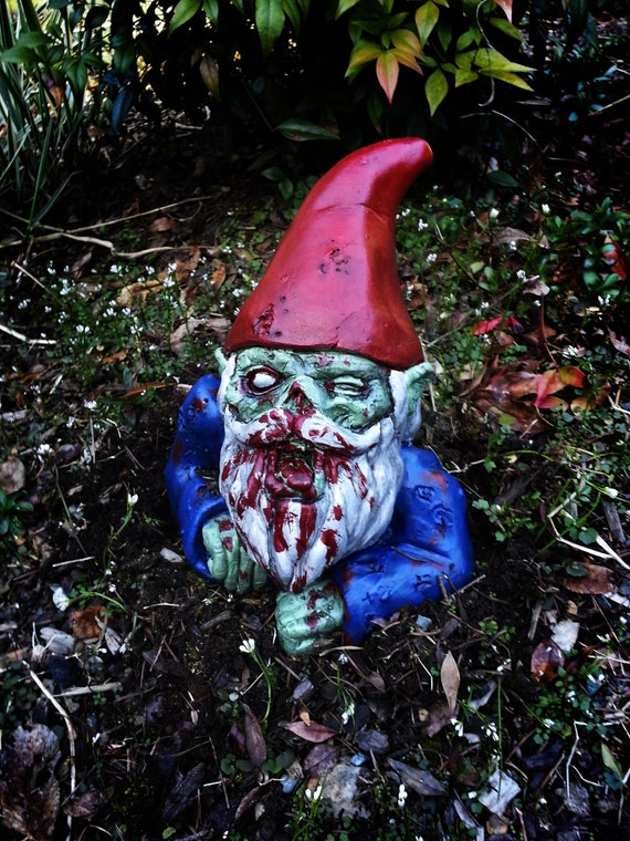 Gnome In Garden: Zombie GnomeRising Dead By Dougfx On Etsy