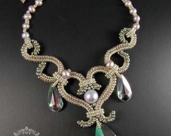 Fresh Tendrils Necklace - Beading Pattern/Tutorial Downloadable PDF