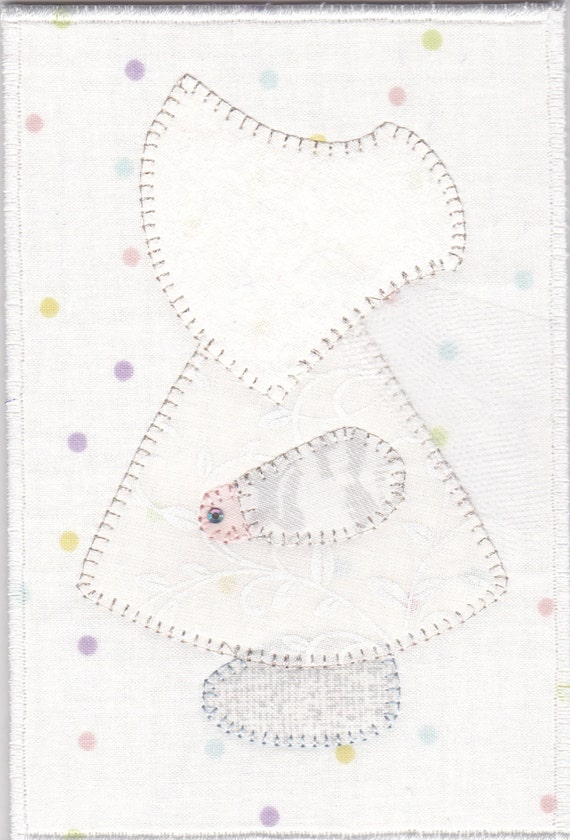 Wedding Sue Quilted Fabric Postcard