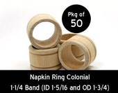 50 - Napkin Ring Colonial - 1-3/4 unfinished wood (WW-NR0150)