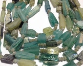 Ancient roman glass beads whole strand nugget style