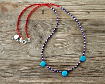 Nautical Beaded Necklace