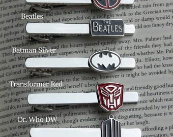Super Tie Clip!  24 Styles, superman, captain america, batman, transformers, spiderman, star wars, star trek, flash, iron man, green