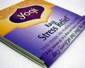 Stress Relief Matchbook Memopad, Notebook, Pad, Yogi Tea, Kava, Mini, Yoga, Meditation, Journal, Yellow, Lavender, Purple