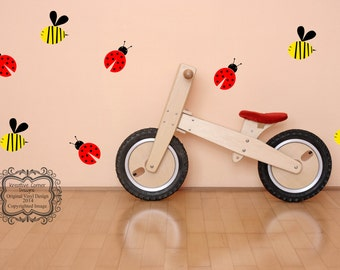 Lady Bug and Bee Set-Vinyl Decal