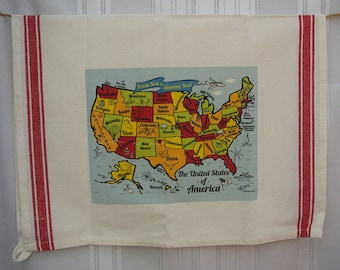 United States Map Kitchen/Tea Towel