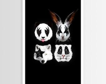 R—bert Farkas Kiss of Animals POSTER