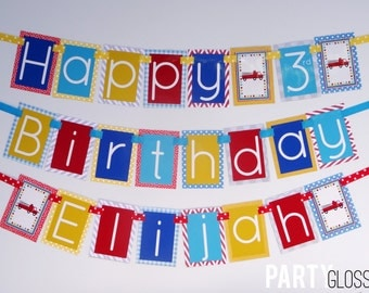 Firetruck Birthday Party Banner Decorations Fully Assembled