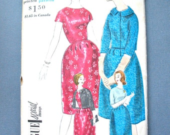 Vogue Special Design 4165 Vintage 1960s Women's Suit and Blouse Sewing Printed Pattern