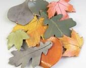 Personalized leaf ornament -Custom