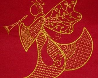 Machine Embroidery Design- Angelic Fantasy #10-SINGLE Design in 4 sizes!