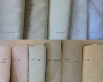 Illusion Tulle Samples, Choose colors
