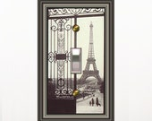 0477x   Eiffel tower gate mrs butler switchplate (Choose size/price from dropdown)