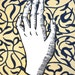 Hand No. 1 | Linocut Relief Art Print of Hand on Flocked Paper