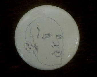The Giant Twin Peaks Pinback Button from Original Art by Maxx