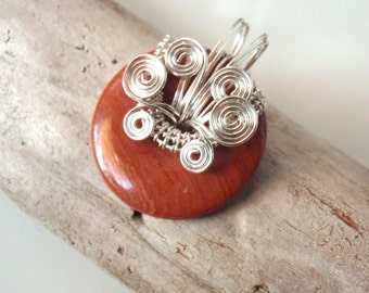 Red Jasper with Loads of Silver Swirls