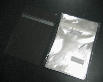 50  5 7/16 x 7 1/4 Clear Resealable Cello Bag Protect Envelopes For Cards, Pictures and more