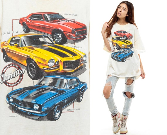 Camaro Shirt 80s Muscle Car Tshirt Chevy Classic Cars Tee