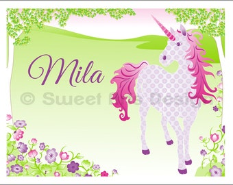 Unicorn in Spring  -  Wall Print  (or)  Greeting Cards