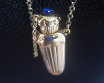 Vintage Avon Pendant Necklace Perfume Vial Bottle 80's