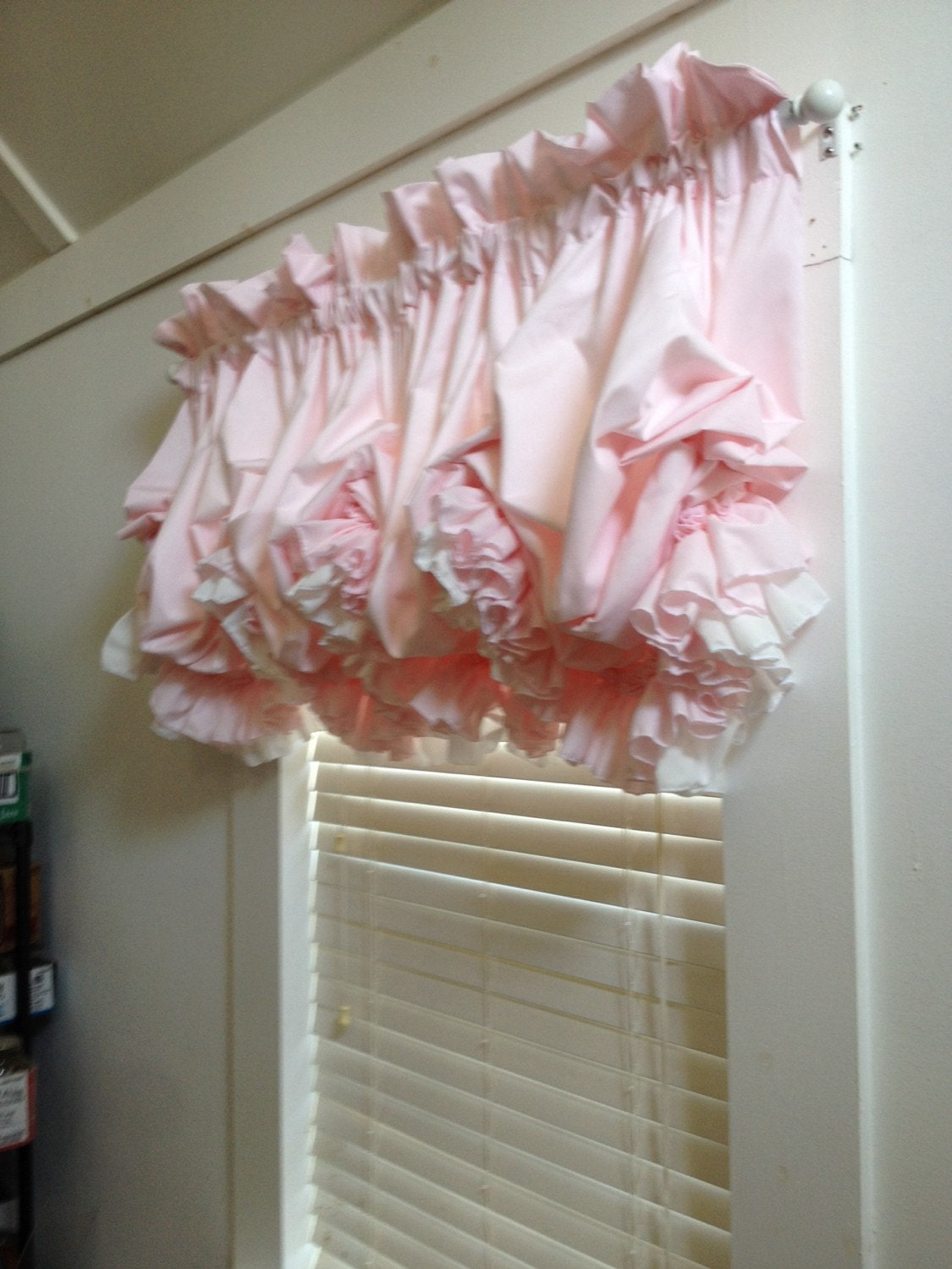 Ho how to tie balloon curtains - Blush Pink Double Ruffle Balloon Valance Curtain