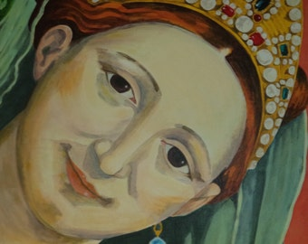 Renaissance Large Acrylic Painting Acrylic Portrait Painting Masters Reproduction 20 x 24 Fine Art Painting