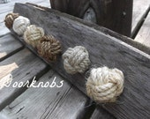 Nautical Decor - Knotty Door Knobs - Manila, Hemp, Sisal or Cotton 1-4 Rope Drawer Pulls