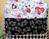 Black and White Best Friends Dog/Cat Kitchen Aid Mixer Cover-fits classic, artisan,delux-great gift for the baker in your life
