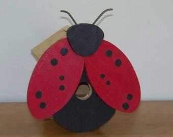 Ladybug Cedar Birdhouse