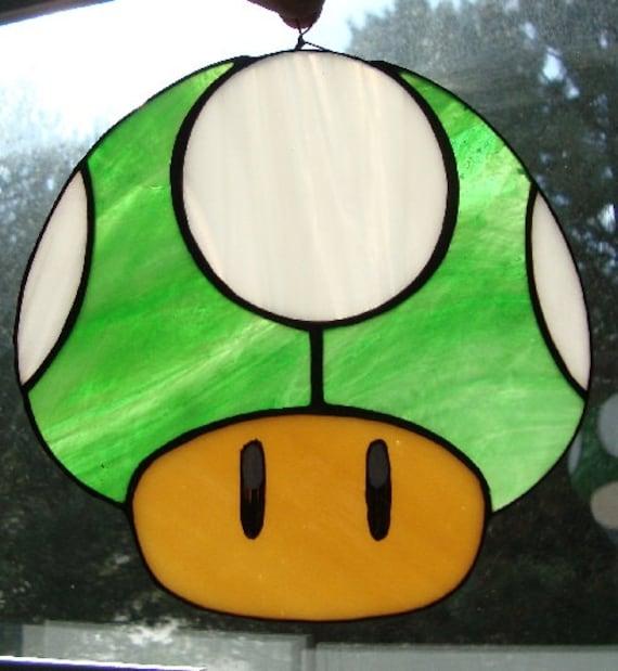 Stained Glass Super Mario Mushroom Power