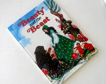 Vintage Childrens Picture Book Fairy Tale Beauty and the Beast Derrydale Classic 1978