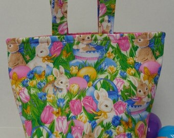 Sweet Bunny Easter Tote Bag