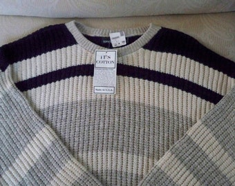 Vintage Clothing Men's NOS Designer Sweater Tony Lambert USA XL 1980's