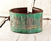 February Bracelets Leather Cuffs - Leather Wristbands Valentine's Day Gift - Handpainted Wrist Cuff Bands - Etsy Love
