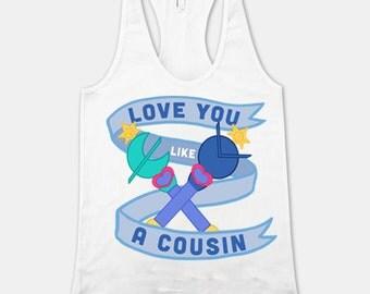 Love You Like a Cousin Racerback Tank